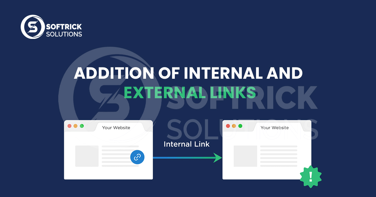 Addition of internal and external links