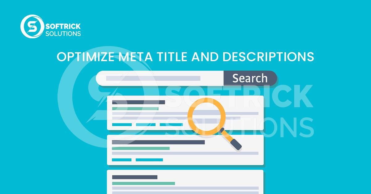 Optimize Meta title and descriptions